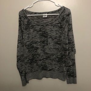 Victoria secret pink long sleeve shirt gray medium